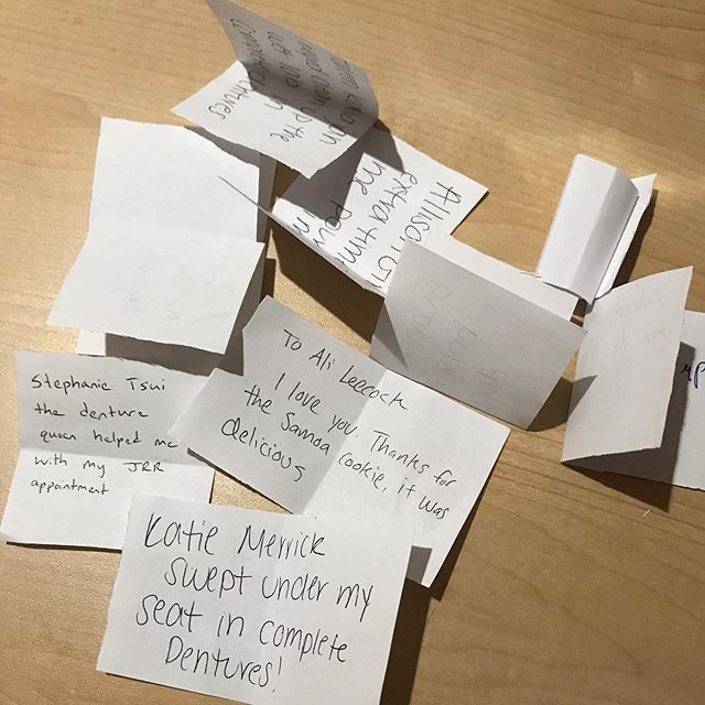 Check out all of the kind acts that have been going on at UConn!  Don't forget to submit your Random Acts of Kindness! Whenever someone does a random act of kindness for you, you can write their FIRST + LAST name and what they did on an piece of paper and put it inside one of the decorated boxes in the lecture halls. You can choose to be anonymous or include your name.  Submissions can be made in Patterson and Friends until February 22!