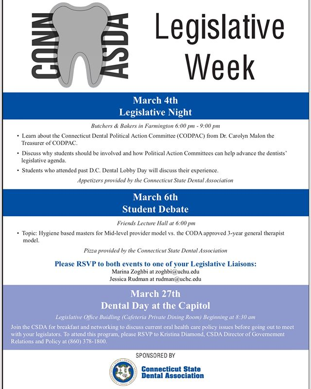 Don't forget to sign up for these great events for Legislative week! Check @marinazoghbi 's emails for more details!!