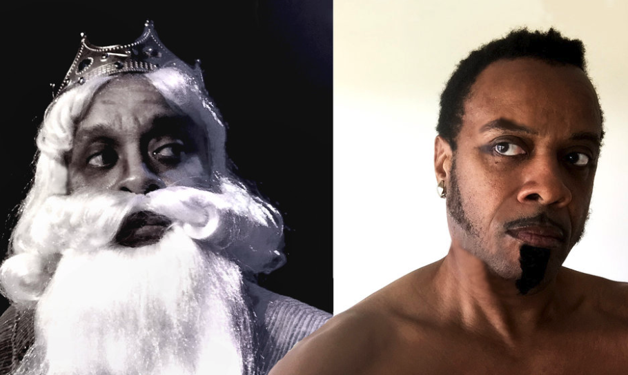 Paul Outlaw as Ira Aldridge as Lear (left) and Othello (right)