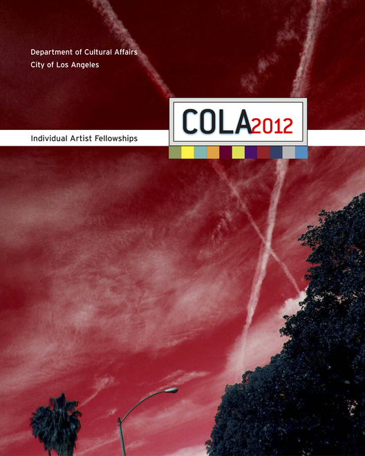 """Exhibition catalogue of the 2012 C.O.L.A. (City of Los Angeles) Individual Artist Fellowships featuring Paul Outlaw and """"Porphyria's Descent"""""""