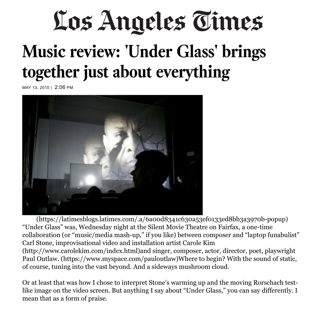 Review of  Under Glass
