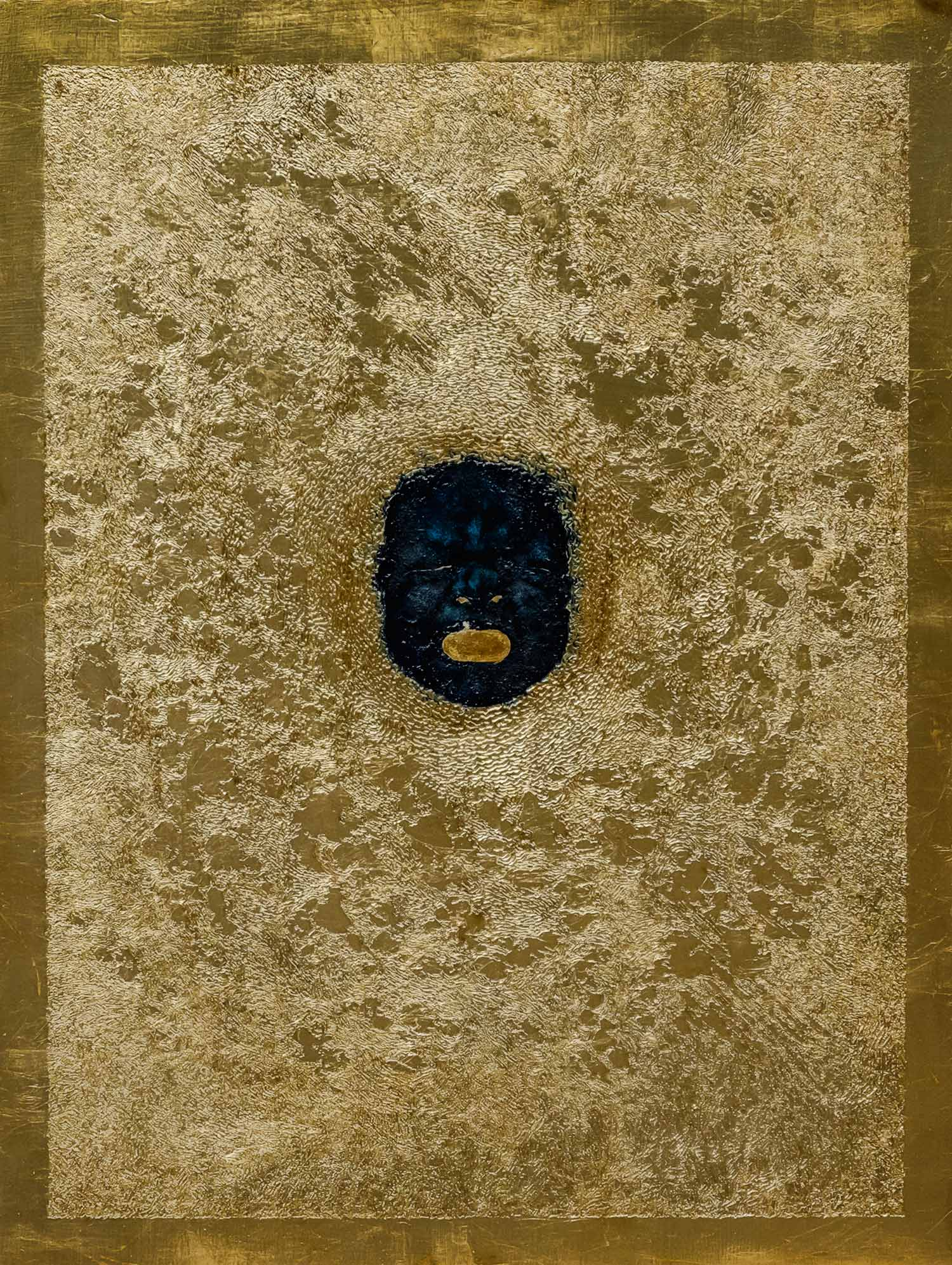 Out   Aristomenis Theodoropoulos  |  2018 - Acrylic, oil and gilding on wood, 56 x 66.5 cm