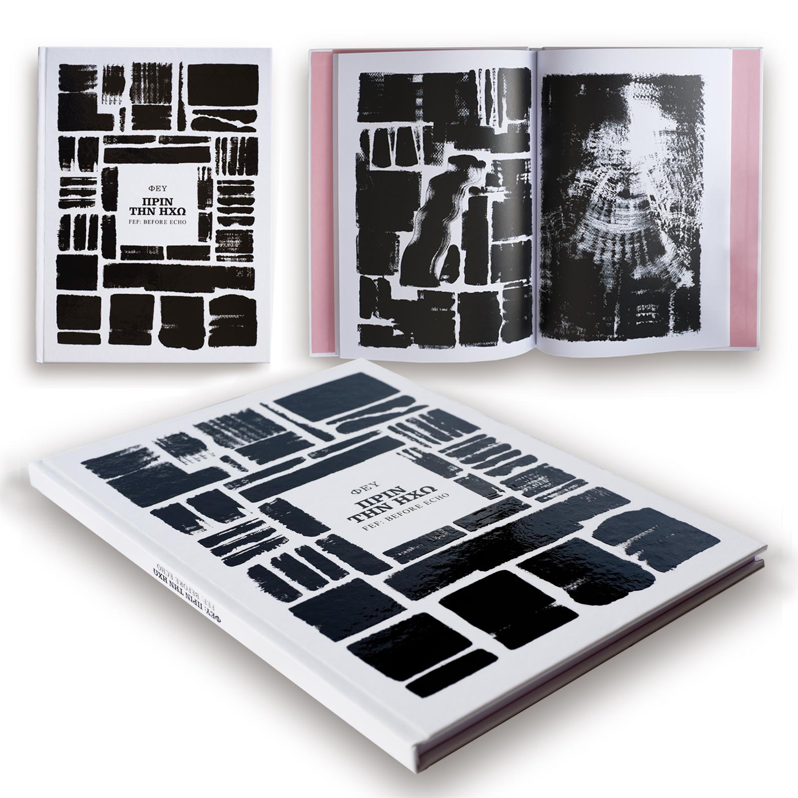 "FEF: Before Echo – Aristomenis Theodoropoulos Hardcover ISBN: 978-618-00-1051-0 SIZE: 21 x 28 cm (8.267"" x 11.023"") FINISHING: Hardback w. velvet paper & matte lamination INTERIOR: 72 Pages, B&W, printed on 140g X-Per paper LANGUAGE: Greek / English Limited edition of 111 hand-numbered copies    PURCHASE    ΦΕΥ: Πριν την Ηχώ – Αριστομένης Θεοδωρόπουλος Σκληρόδετο ISBN: 978-618-00-1051-0 ΔΙΑΣΤΑΣΕΙΣ: 21 x 28 cm ΕΠΕΝΔΥΣΗ: Χαρτονόδετο σε βέλβετ χαρτί & πλαστικοποίηση ματ Εσωτερικό: 72 Σελίδες, ασπρόμαυρες, τυπωμένες σε X-Per χαρτί 149g ΓΛΩΣΣΑ: Ελληνικά / Αγγλικά Περιορισμένη έκδοση 111 αντιτύπων, αριθμημένα στο χέρι.    ΑΓΟΡΑ"