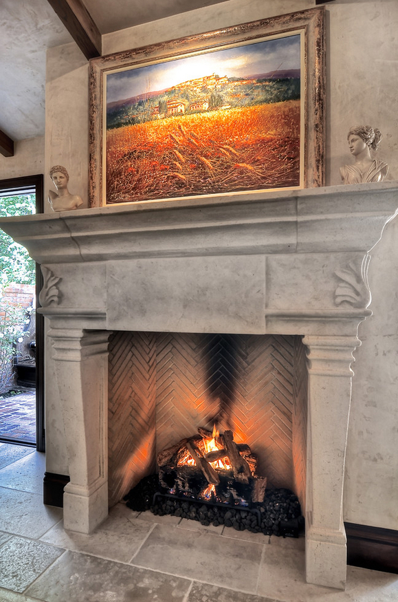 FIREPLACE AND SURROUND -