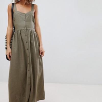 Earthy Linen Dress