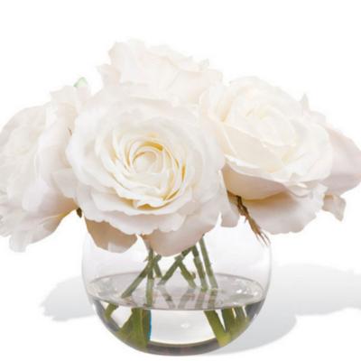 White Silk Roses