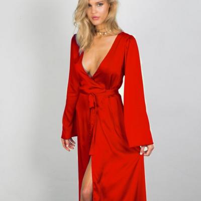 Delilah Wrap Maxi Dress