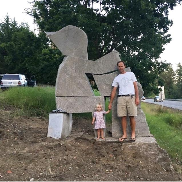 Keep an eye out for a new sculpture installation in Poulsbo, WA! The sculpture is visible while driving on hwy 305 from Poulsbo toward Bainbridge Island.