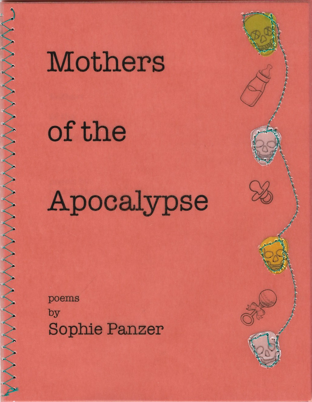 Mothers of the Apocalypse - bySophie PanzerSophie Panzer grew up in New Jersey, completed her BA at McGill University, and currently teaches English in Prague, Czech Republic. She is a prose editor at Inklette and previously edited fiction for Scrivener Creative Review. She was a finalist for the 2017 Quebec Writers Federation Literary Prize for Young Writers and a 2016 Pushcart Prize nominee. She is the author of the forthcoming prose chapbook Survive July (Red Bird Chapbooks 2019) and her work has appeared or is forthcoming in Anti-Heroin Chic, Josephine Quarterly, Lavender Review, Gingerbread House, Pulp Literature, the Claremont Review, carte blanche, Soliloquies Anthology, and Young Adult Review Network, among others. She enjoys comedy, NPR, nature, carbohydrates and dogs.