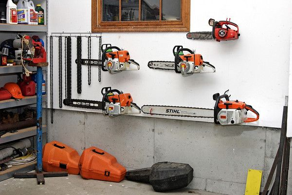 …Chainsaws for every job, always sharpened, fully-fuelled and ready to go! Help us!