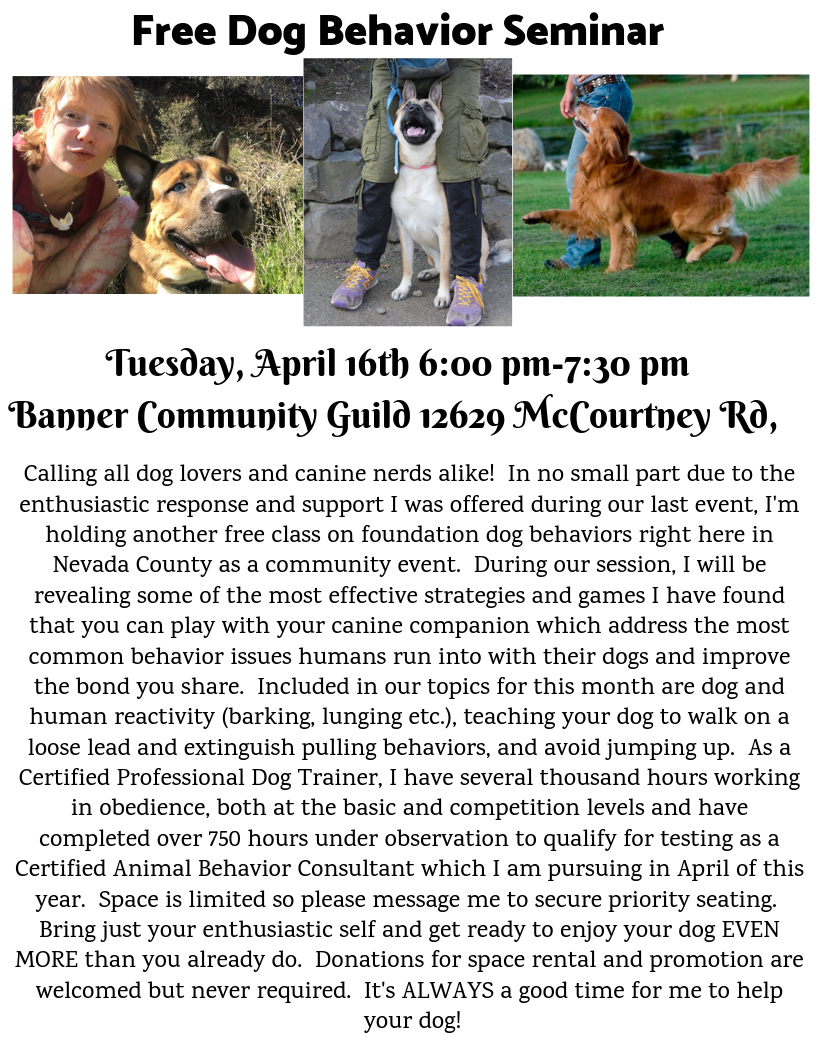 Free Dog Behavior Seminar APRIL 16th.png
