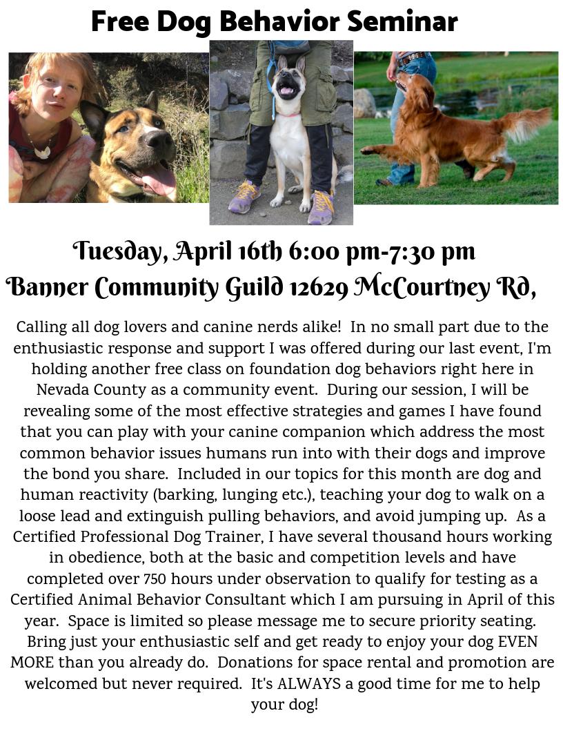 Free Dog Behavior Seminar APRIL 16th.png