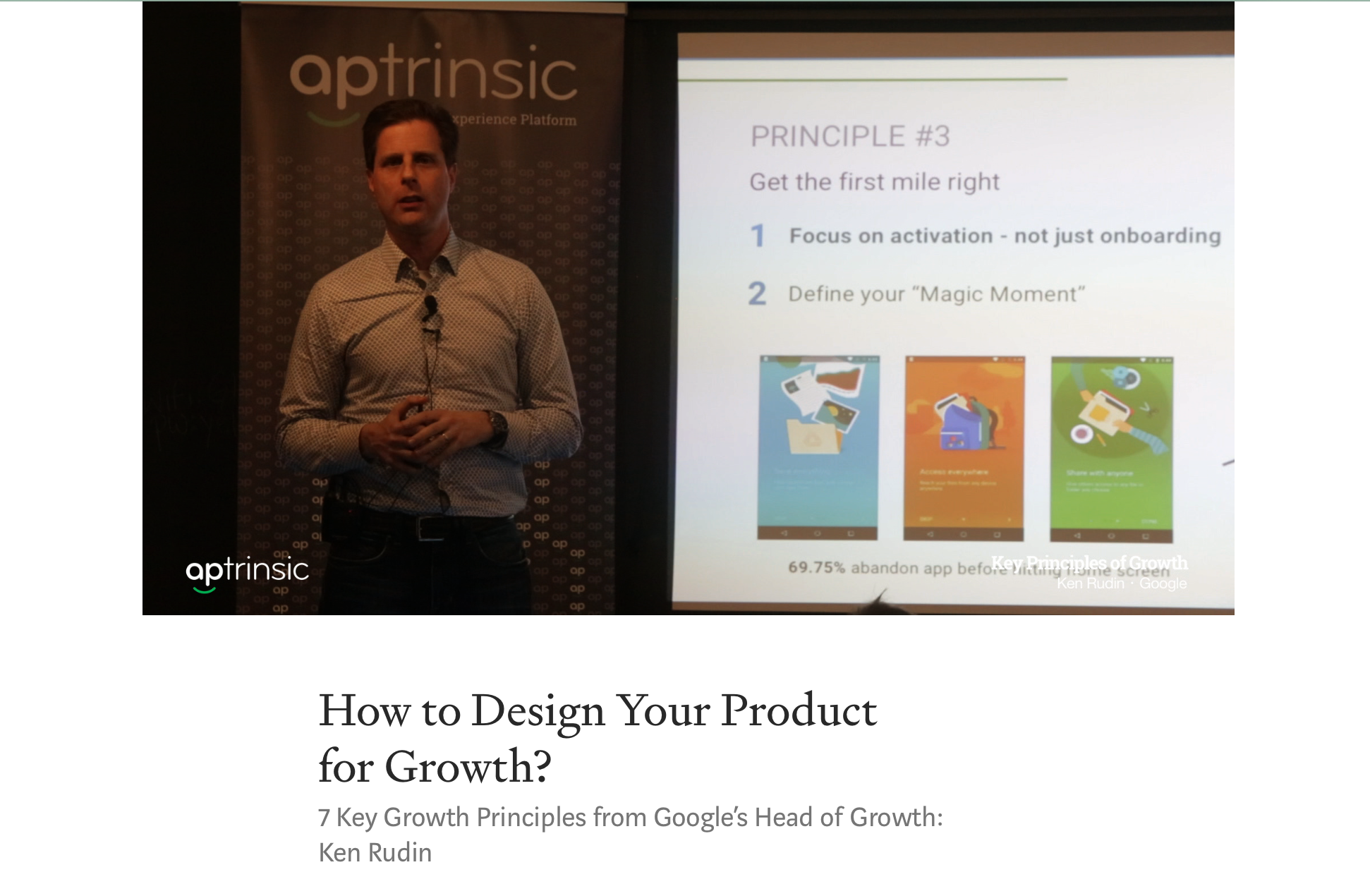 How to Design Your Product for Growth? - Blog post by Aptrinsic