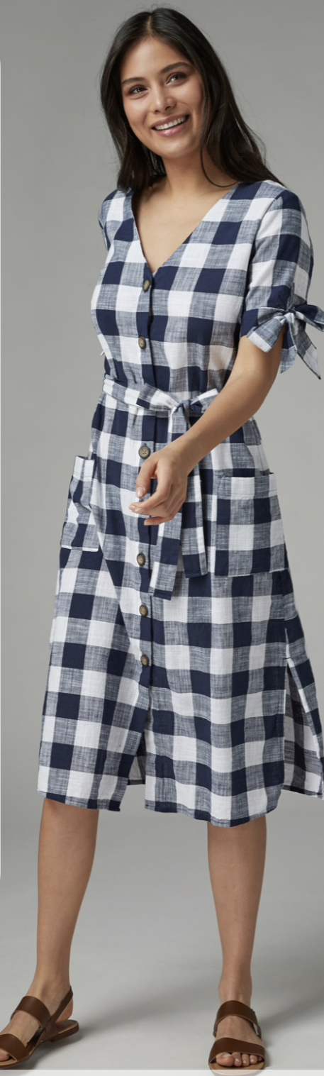 Next Blue Check dress
