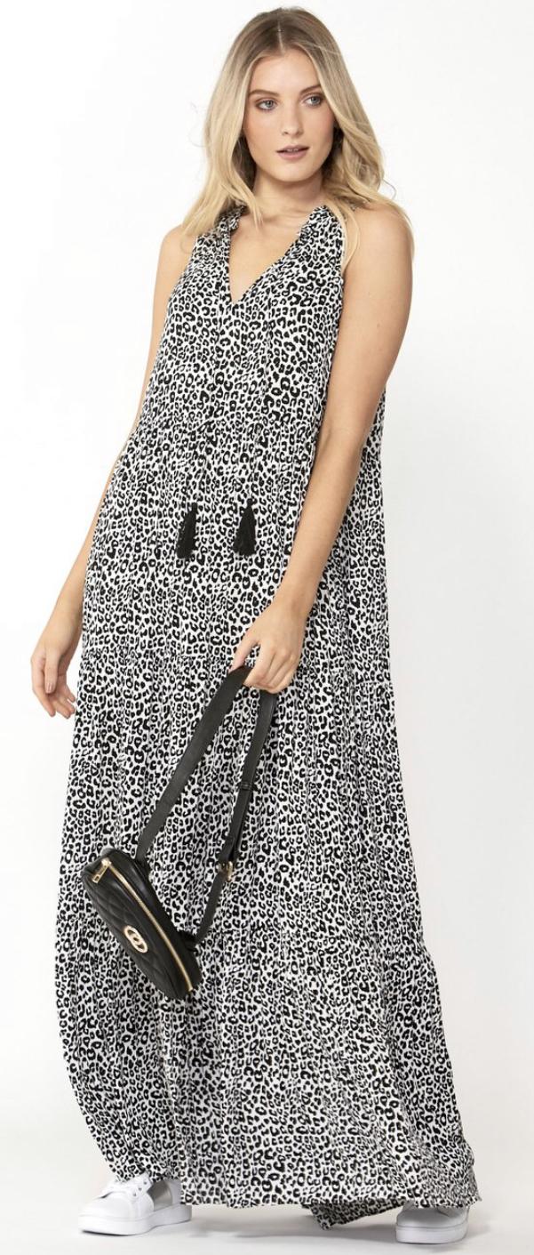 Lara Tie-front Maxi Dress