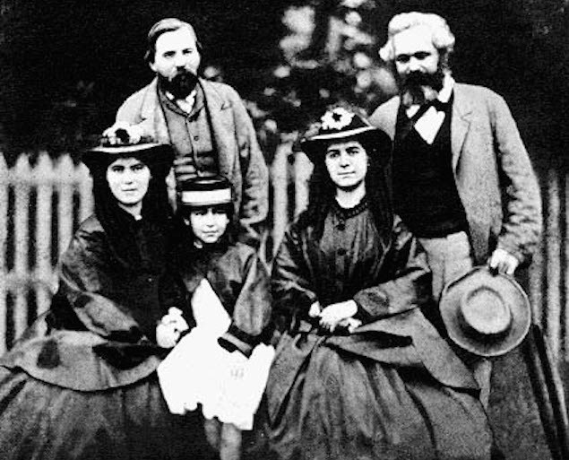 The Marx Family w/ Engels