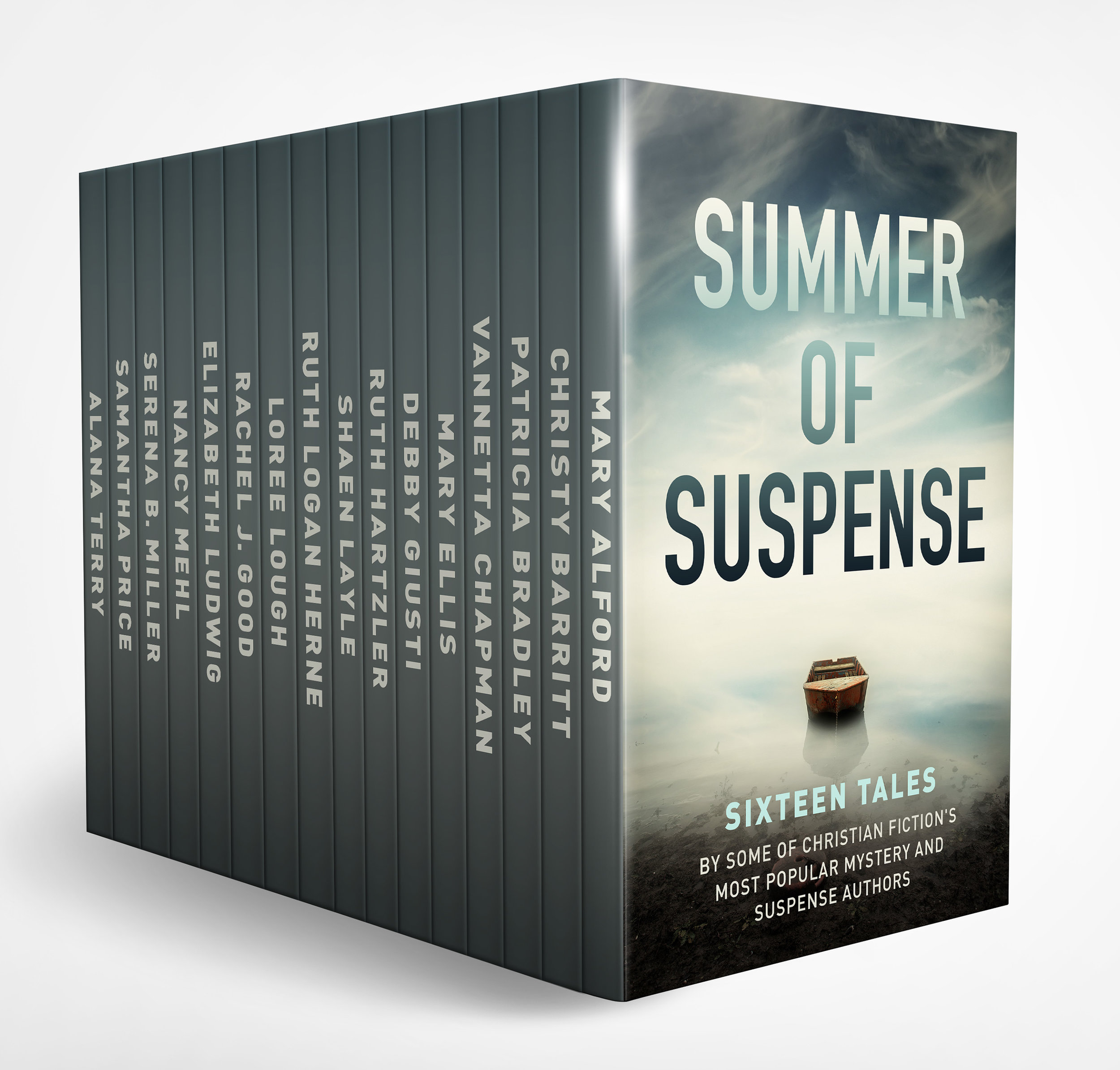 Summer of Suspense: Sixteen Tales - Grab this red hot Christian Suspense Anthology bargain for just 99c for a limited time only before it increases to $9.99!Start your summer off right with 16 gripping and never-before published tales of Christian suspense from today's most popular mystery and suspense authors.Join Mary Alford, Christy Barritt, Patricia Bradley, Vannetta Chapman, Mary Ellis, Debby Giusti, Rachel J. Good, Ruth Hartzler, Shaen Layle, Ruth Logan Herne, Loree Lough, Elizabeth Ludwig, Nancy Mehl, Serena B. Miller, Samantha Price, Alana Terry on a dangerous journey filled with mystery, suspense, and faith that that will keep you on the edge of your seat until the very end.AMAZONNOOKAPPLE