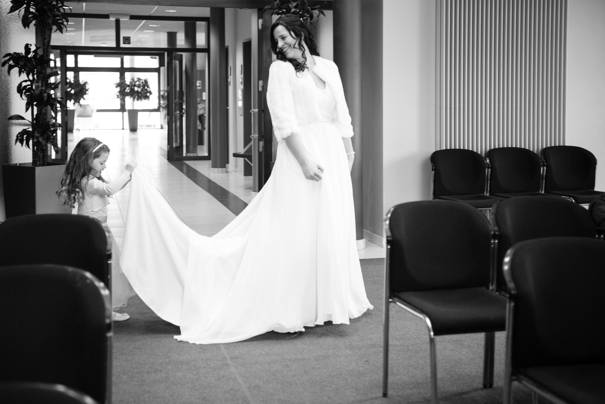 Bruid en dochter