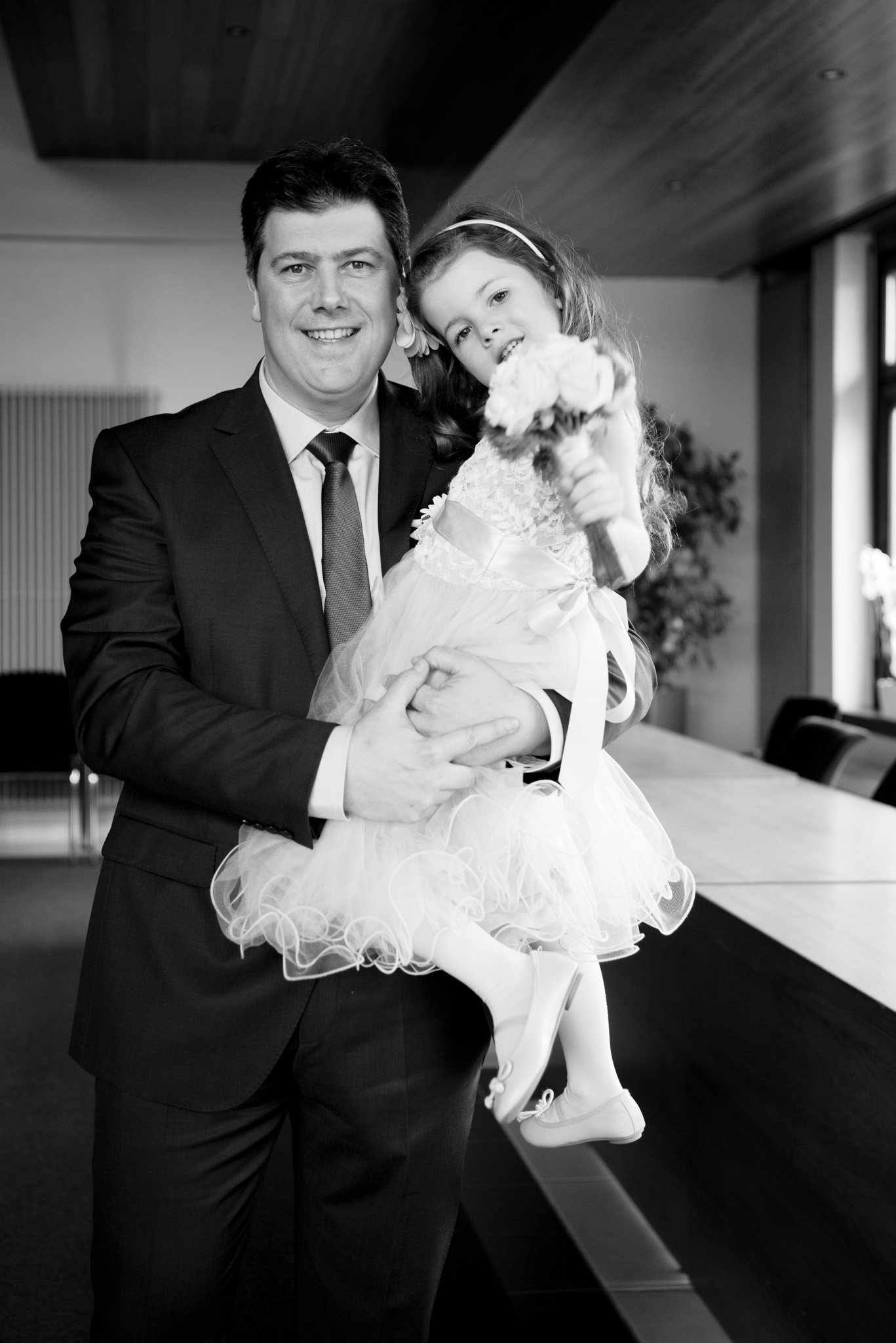 Bruidegom en dochter