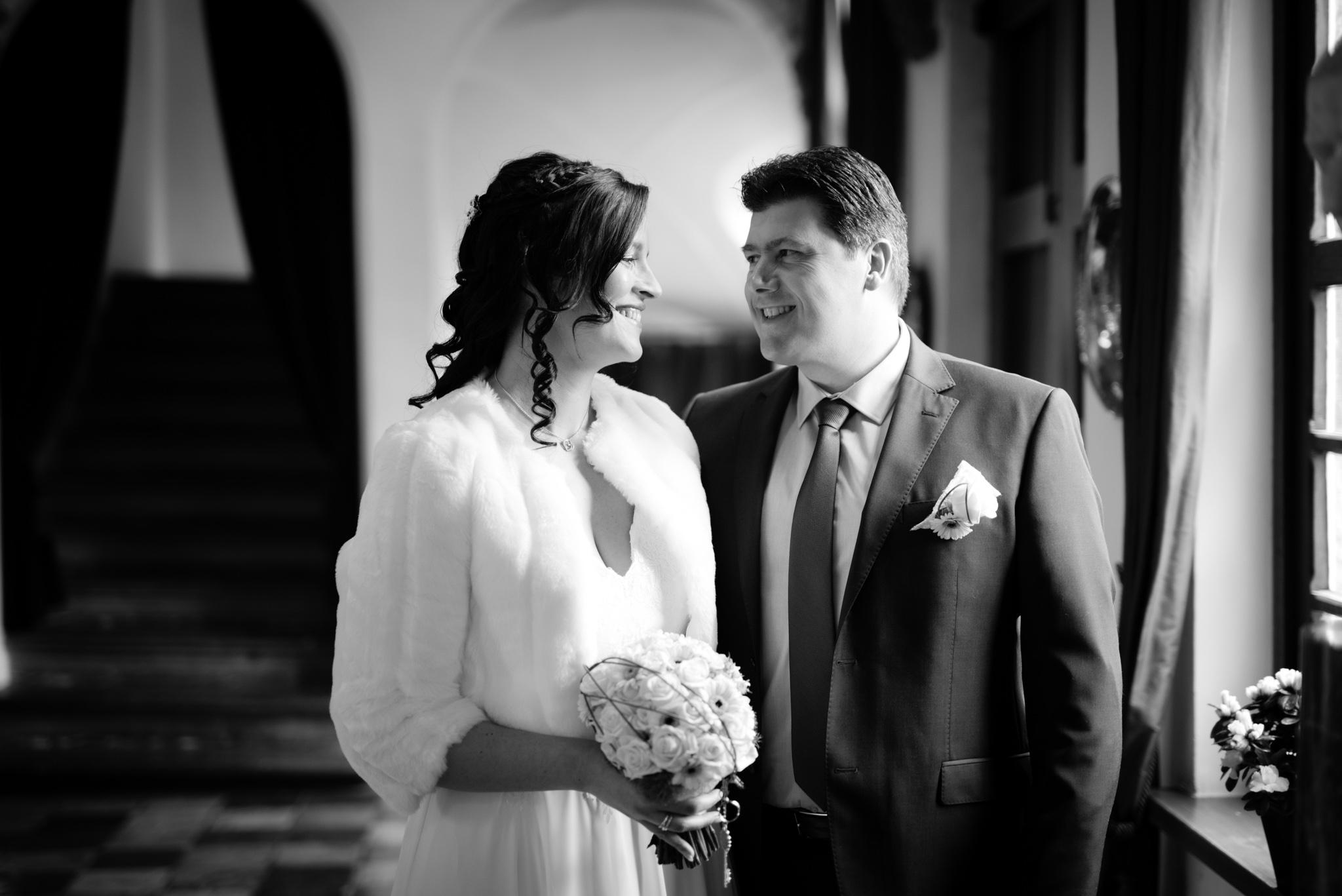 Trouwfoto bruid en bruidegom