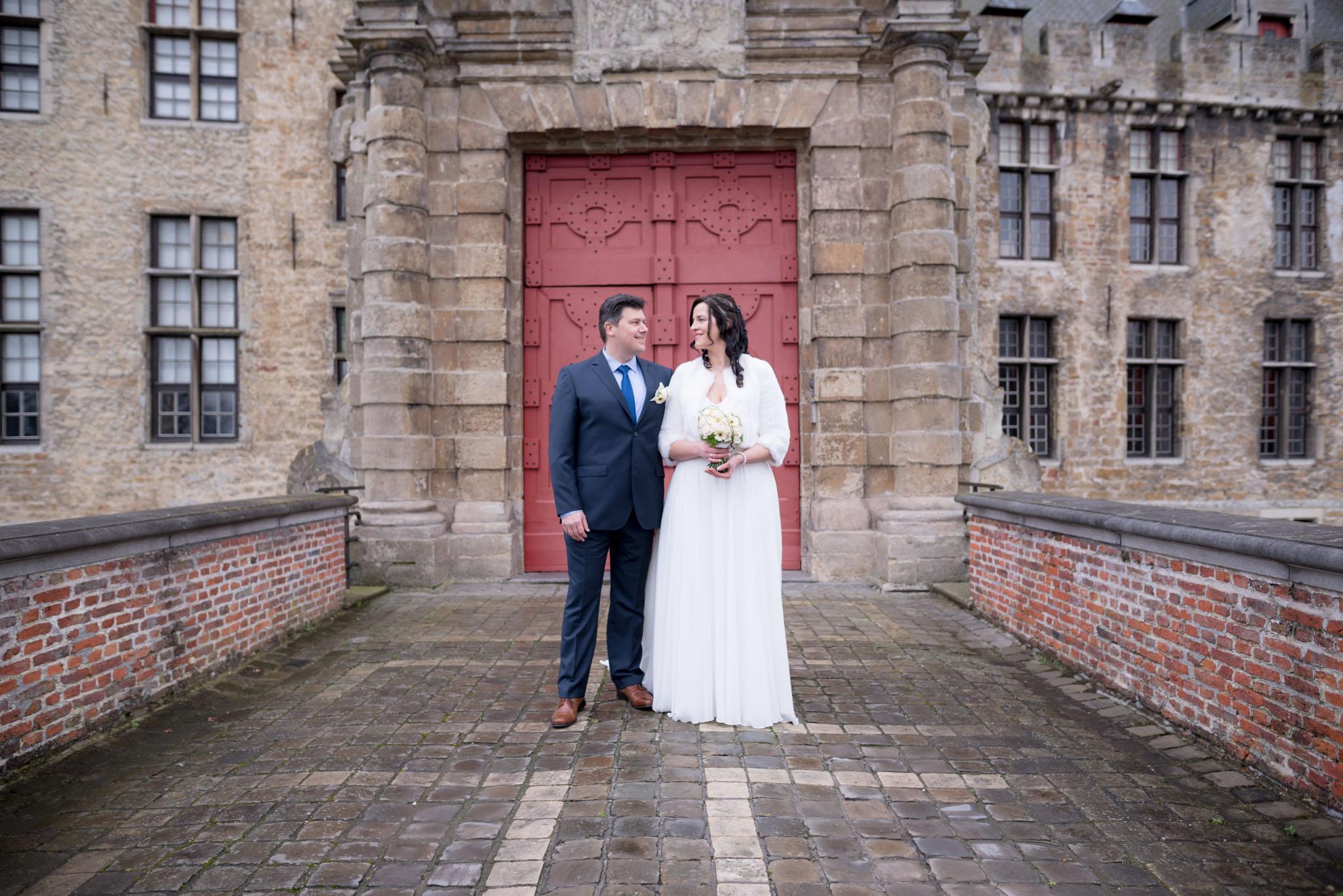 Huwelijksfoto Kasteel van Laarne
