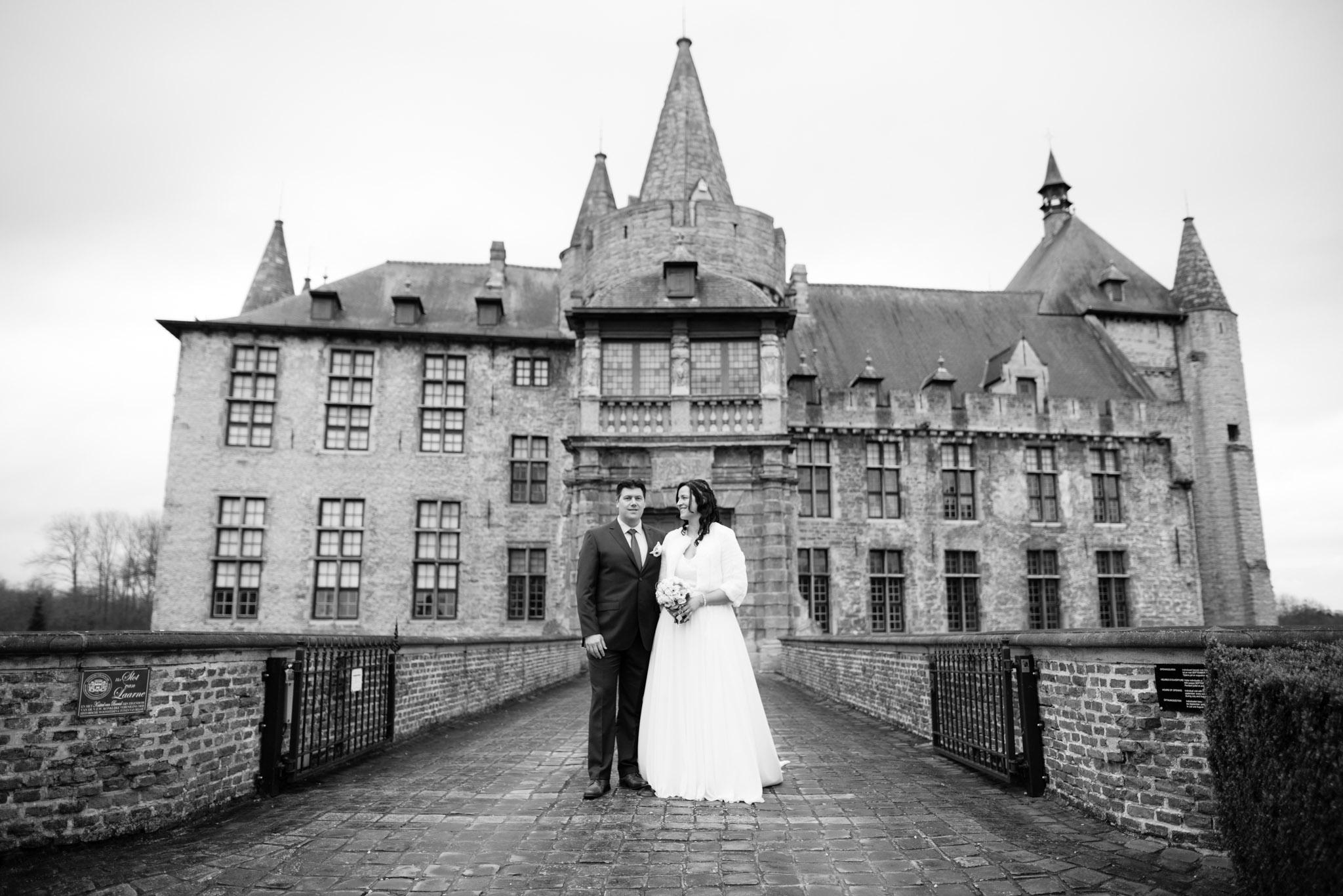 Foto bruid bruidegom Kasteel van Laarne