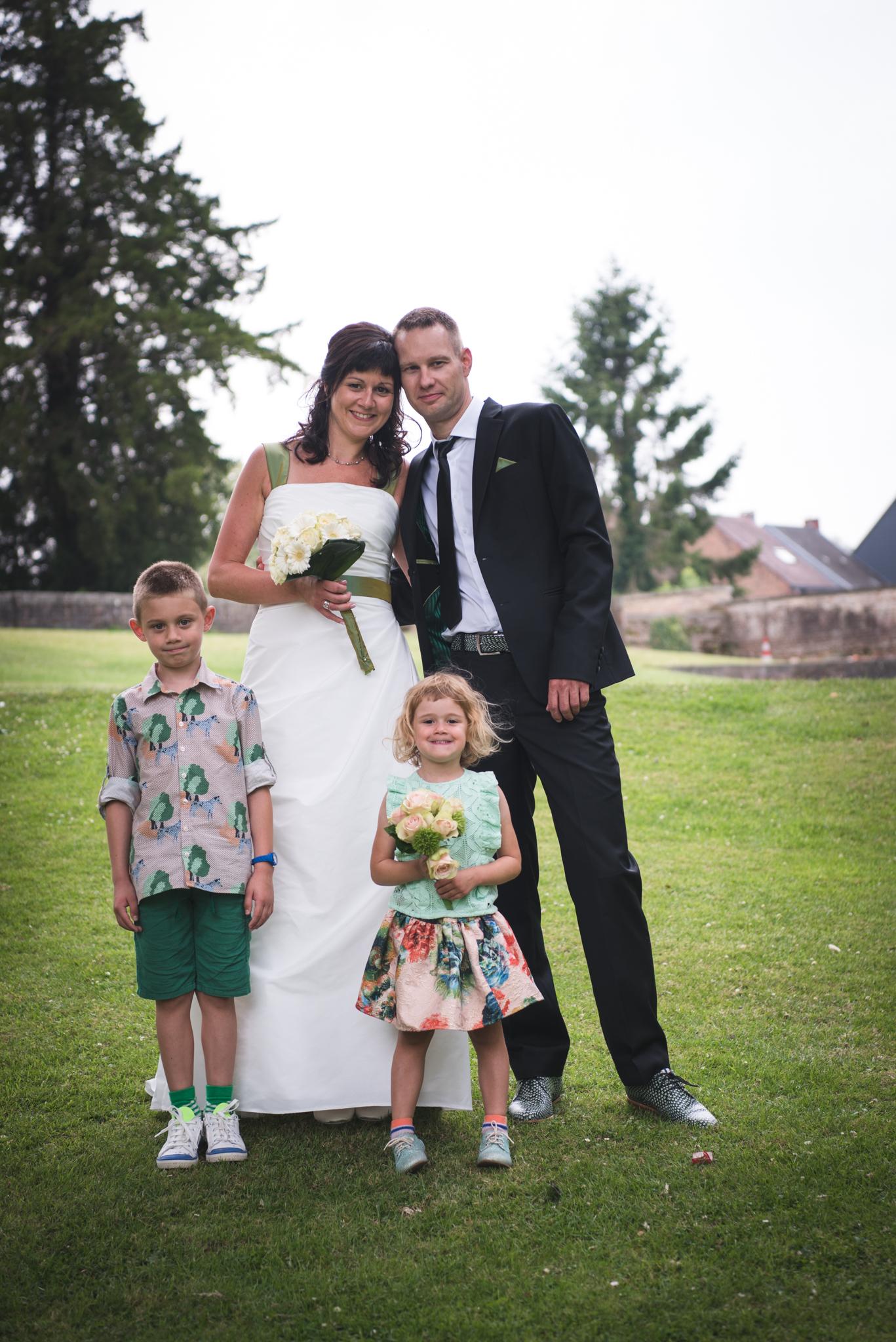 Gezinsfoto huwelijk