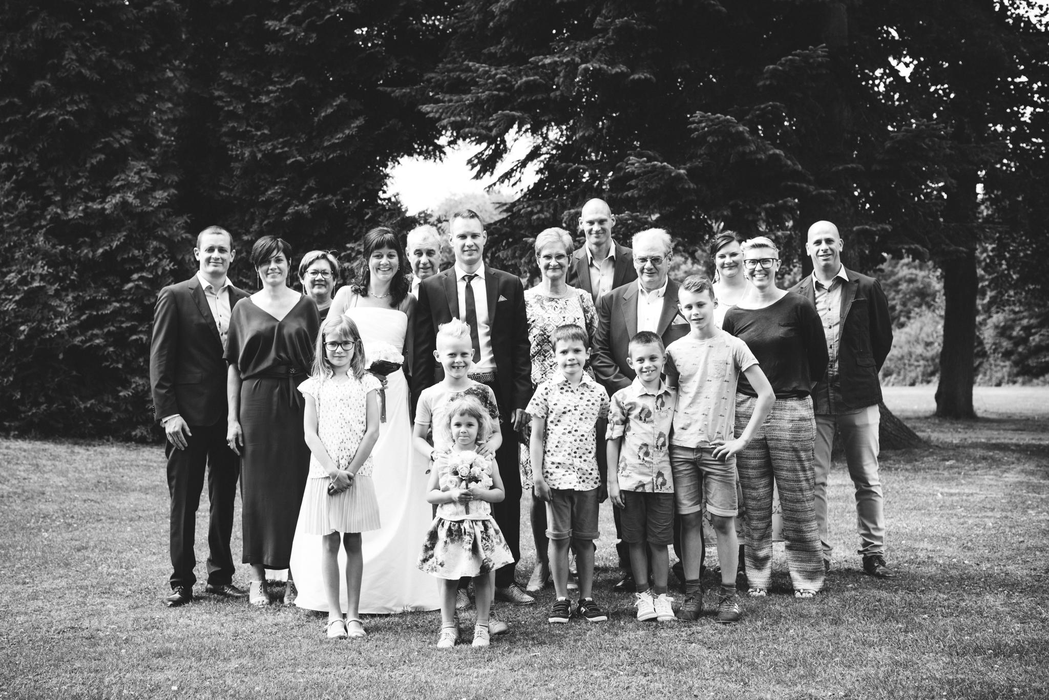 Familiefoto huwelijk