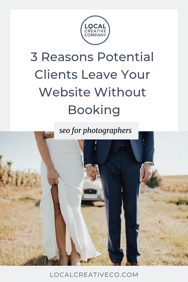 Why do they leave without contacting you and booking?  Here are 3 reasons potential clients DON't fill out your contact form and what you can do about it.