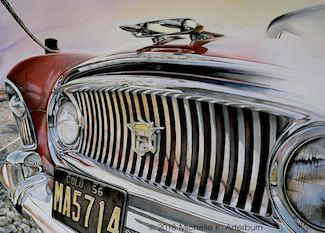 """American Grille"" Watercolor"