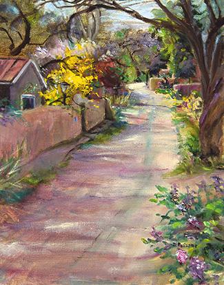Camino Manzana    14x11 oil