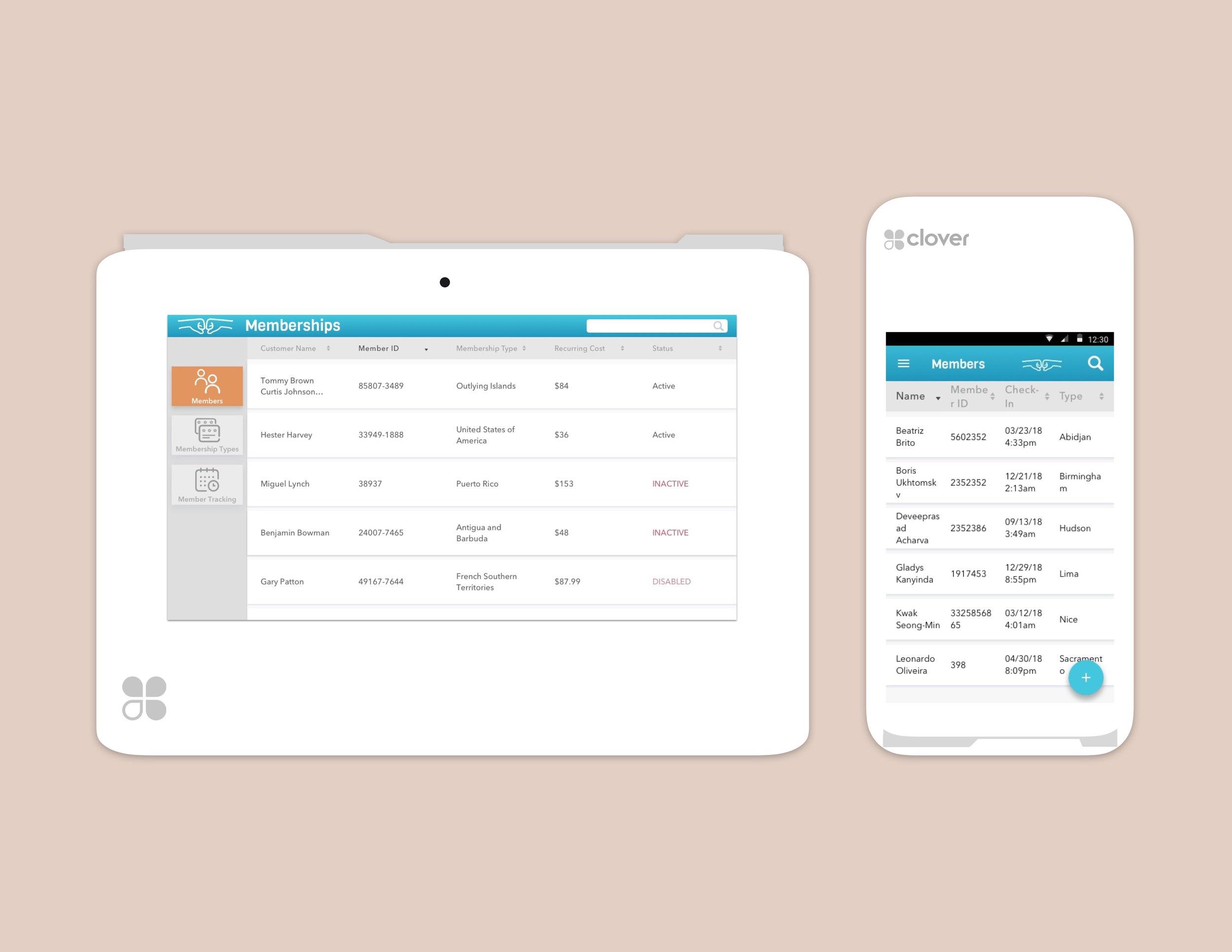 Memberships App for Clover - Lead Designer - UX, Re-brandingautomated recurring billing for Clover Merchants
