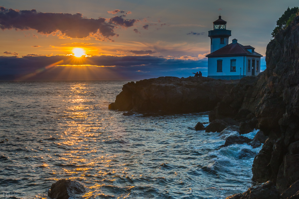 Lighthouse at Lime Kiln State Park. -
