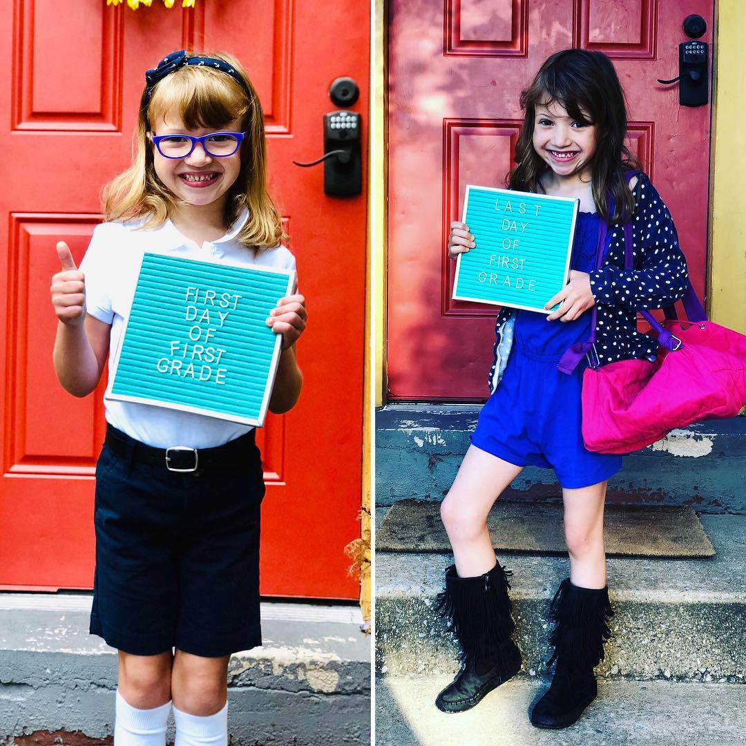 First day of first grade - last day of first grade