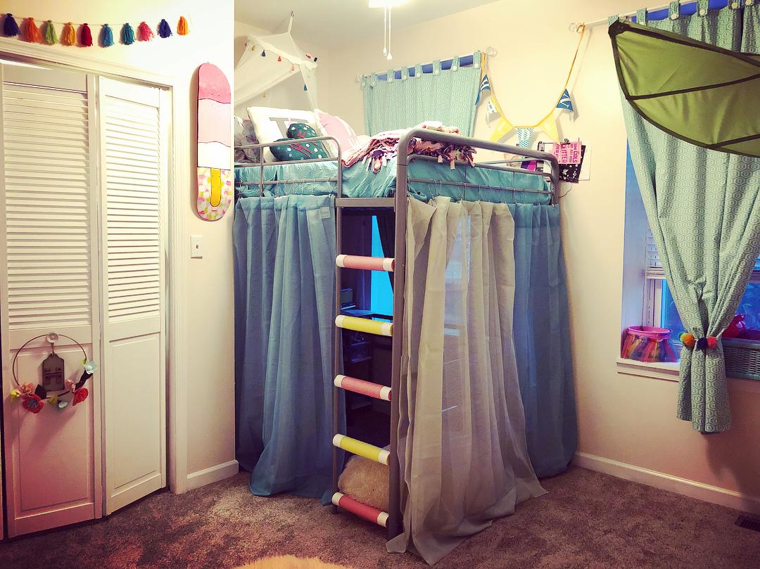 Loft Bed Upgrade - little girl's room