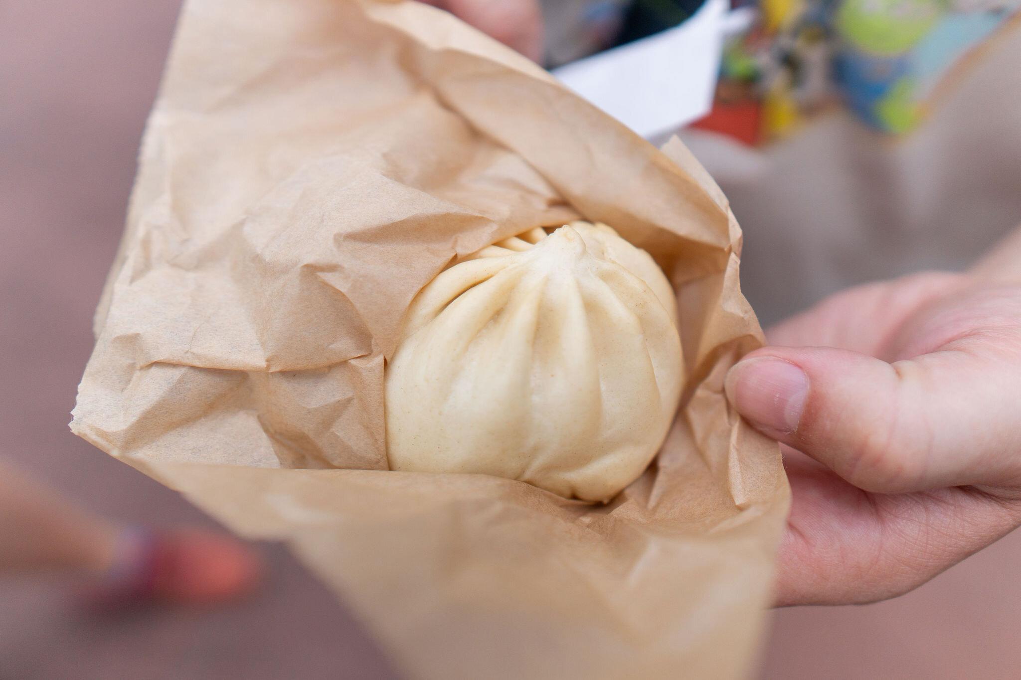 Japan: Teriyaki Chicken Bun: Steamed Bun filled with Chicken, Vegetables and a Sweet Teriyaki Sauce