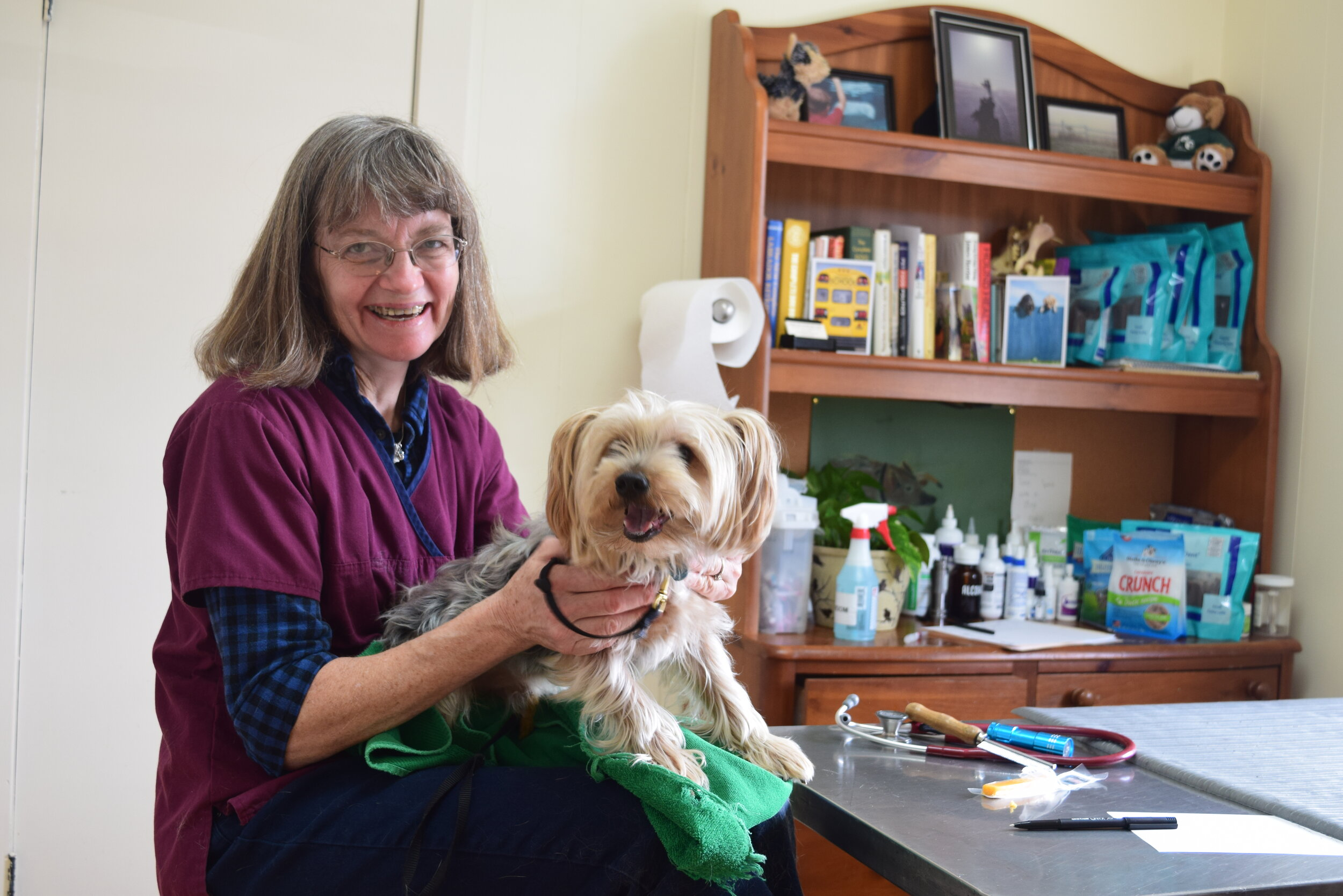 "We refer Dr Patti as the ""Pet Whisperer"" - She is compassionate, calm, considered, and the best vet we've ever had. Our fur children have been her patients for nearly 30 years and have lived long and healthy lives due to her accomplished and skilled experience. Homecare provides exceptional care and hospice services. There are no better vet in the greater Princeton region!!-Gwen and Philipwith Hobbit, Huckleberry, Bianca, Cocopuff, and Daisy"