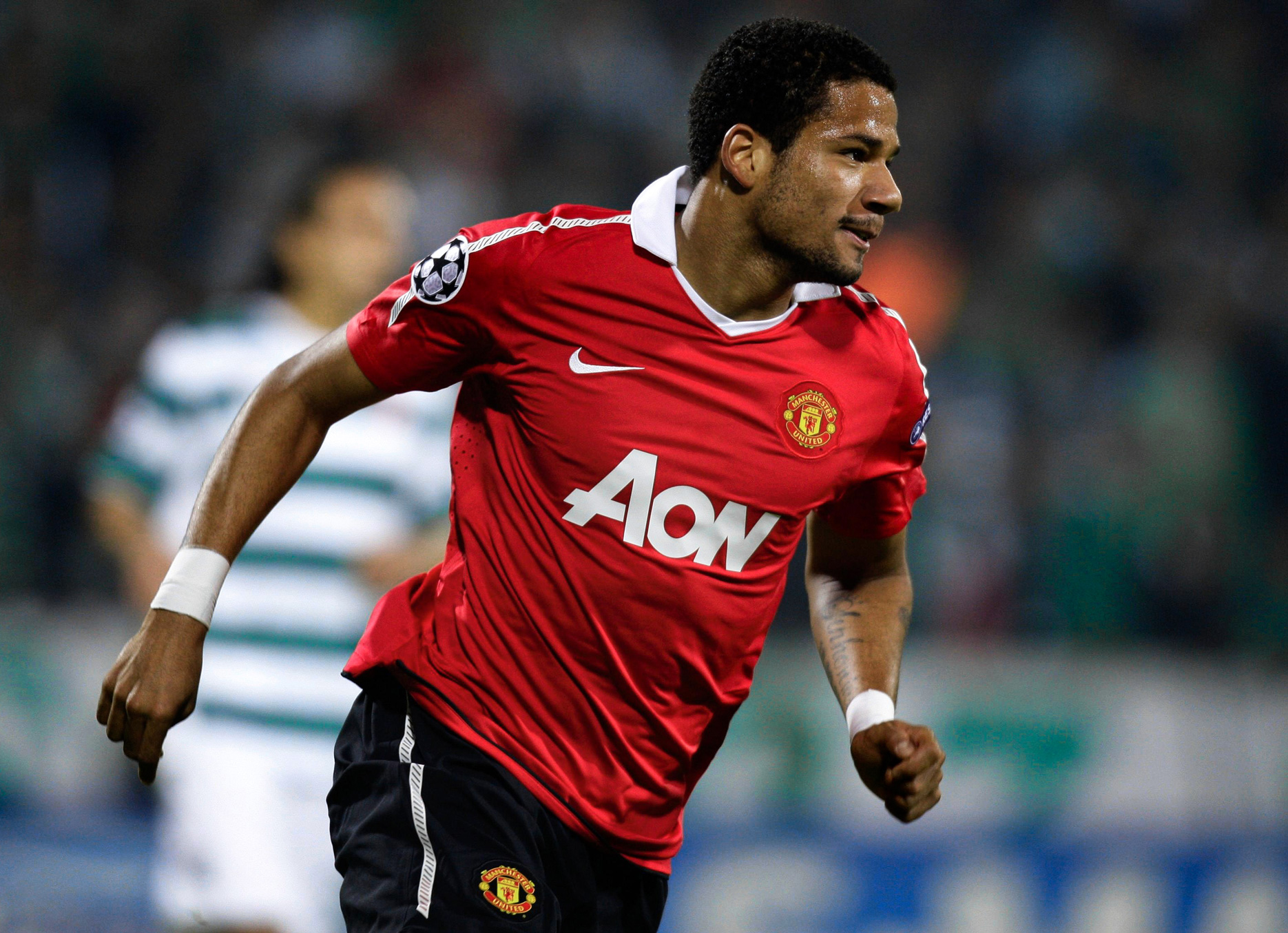 Bebe playing for Manchester United. Source: thesefootballtimes.co