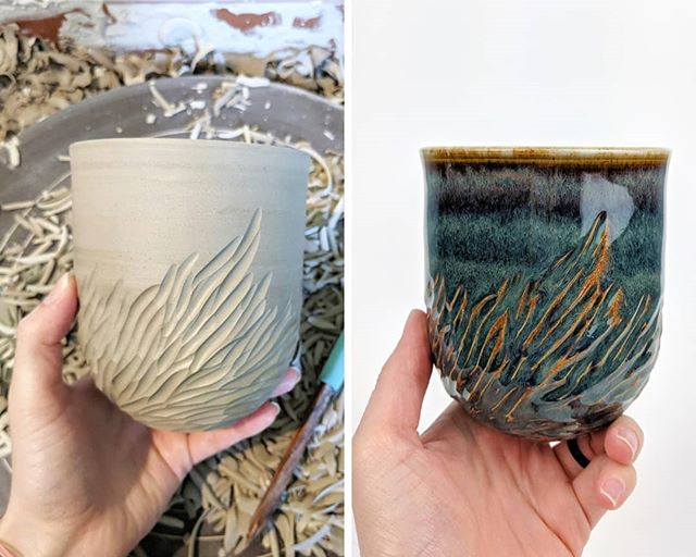 Before and after ✨  I've always wanted to post an image like this but never remember to take the photos 😅 What do you guys think about this cup? Would you like to see more before an after shots?