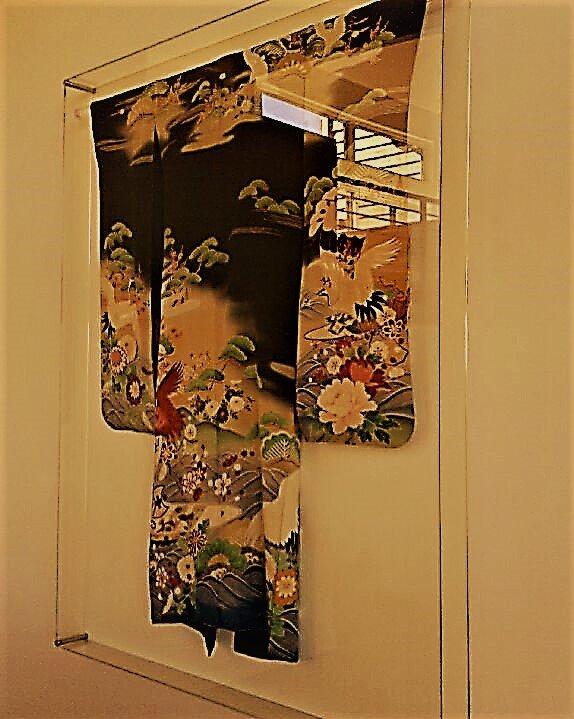 Kimono in 5 sided UV Plexiglass Box