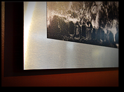 Example of Photograph Mounted to Aluminum and floated off wall