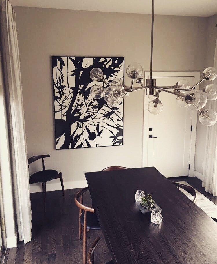 "Natalie Cheung ""Rock Paper Scissors""series  framed in thin brushed black aluminum"