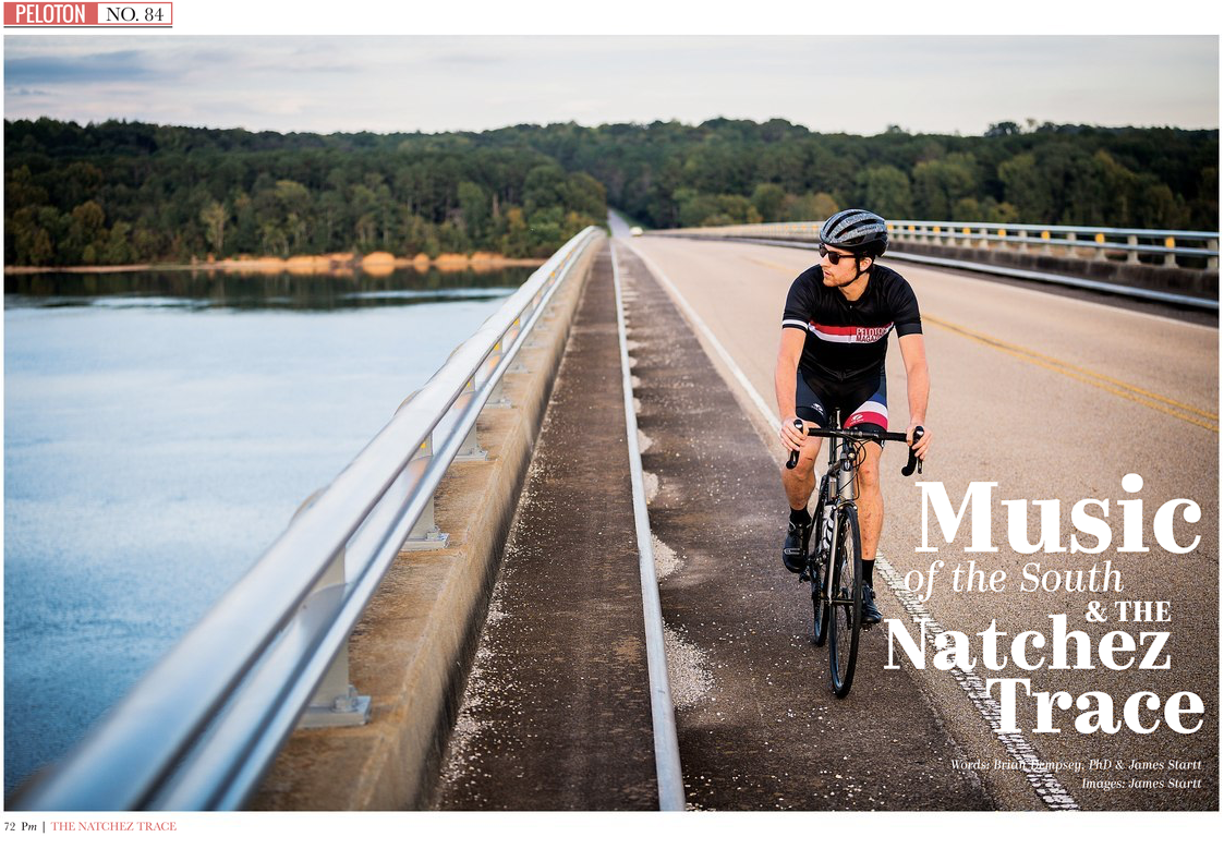 Music of the South & The Natchez Trace - This collaborative article and photo-essay interprets the music history and culture between the Shoals of Alabama and Tupelo, Mississippi. Using the Natchez Trace Parkway as the backbone route, photographer and writer James Startt and I followed a cyclist from Muscle Shoals and Florence to the Elvis birthplace in Tupelo. Along the way we captured the sites, stories, and landscapes that generated some of the most important art and culture in America.