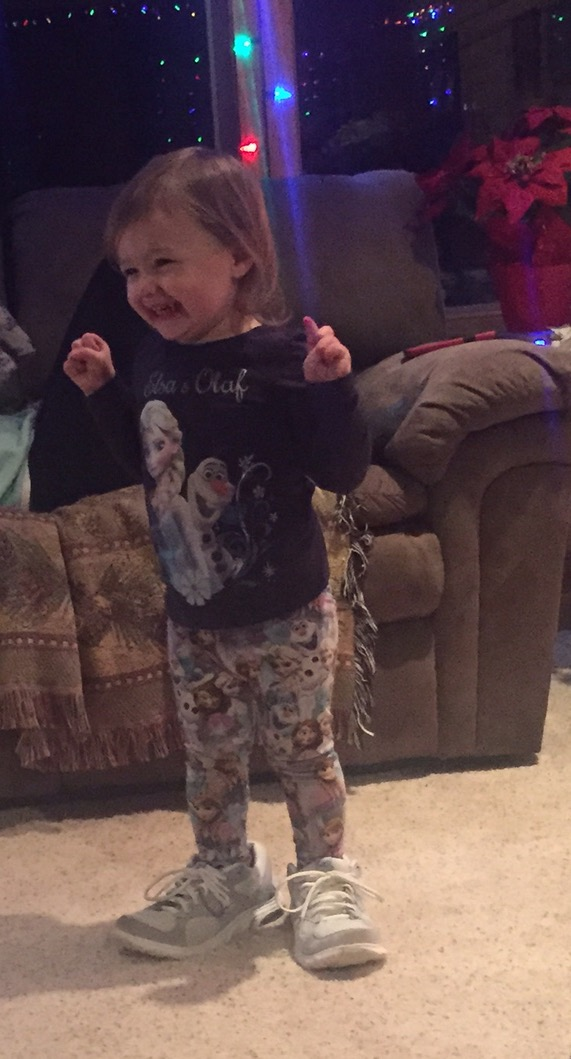 My niece thinks putting on Grandma's shoes, then kicking them off, is HILARIOUS…. She's right.