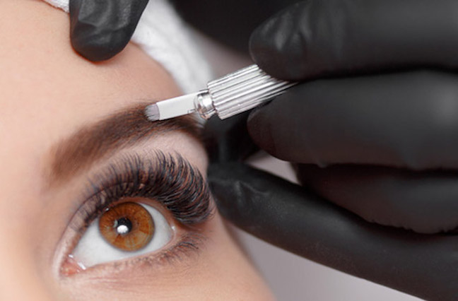 The procedure starts with sanitizing your brow area. A numbing cream is then applied, which, makes this a painless experience! Your brow specialist will then draw out the shape that best fits your face and choose the proper pigment. Once the numbing cream has activated, your specialist will begin drawing strokes, which, will last about 30-40 minutes. An ointment is applied when finished to help soothe the area.