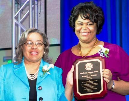 Dr. Daphne L. Smith with 2013 Young Alumna Recipient Katrina L. Rogers