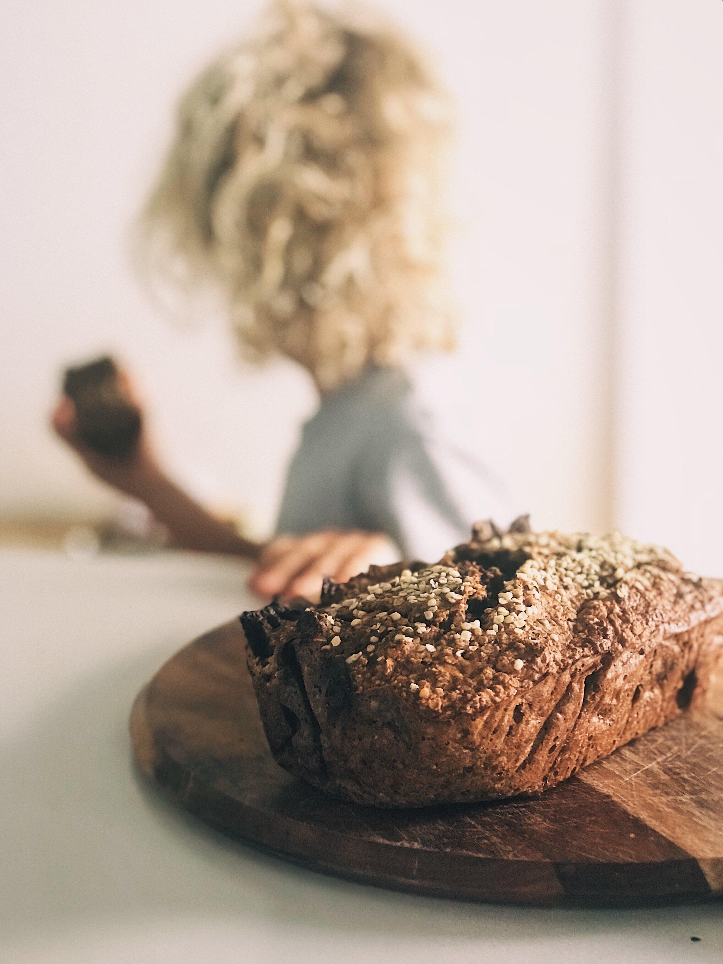 chocolate hemp protein banana bread