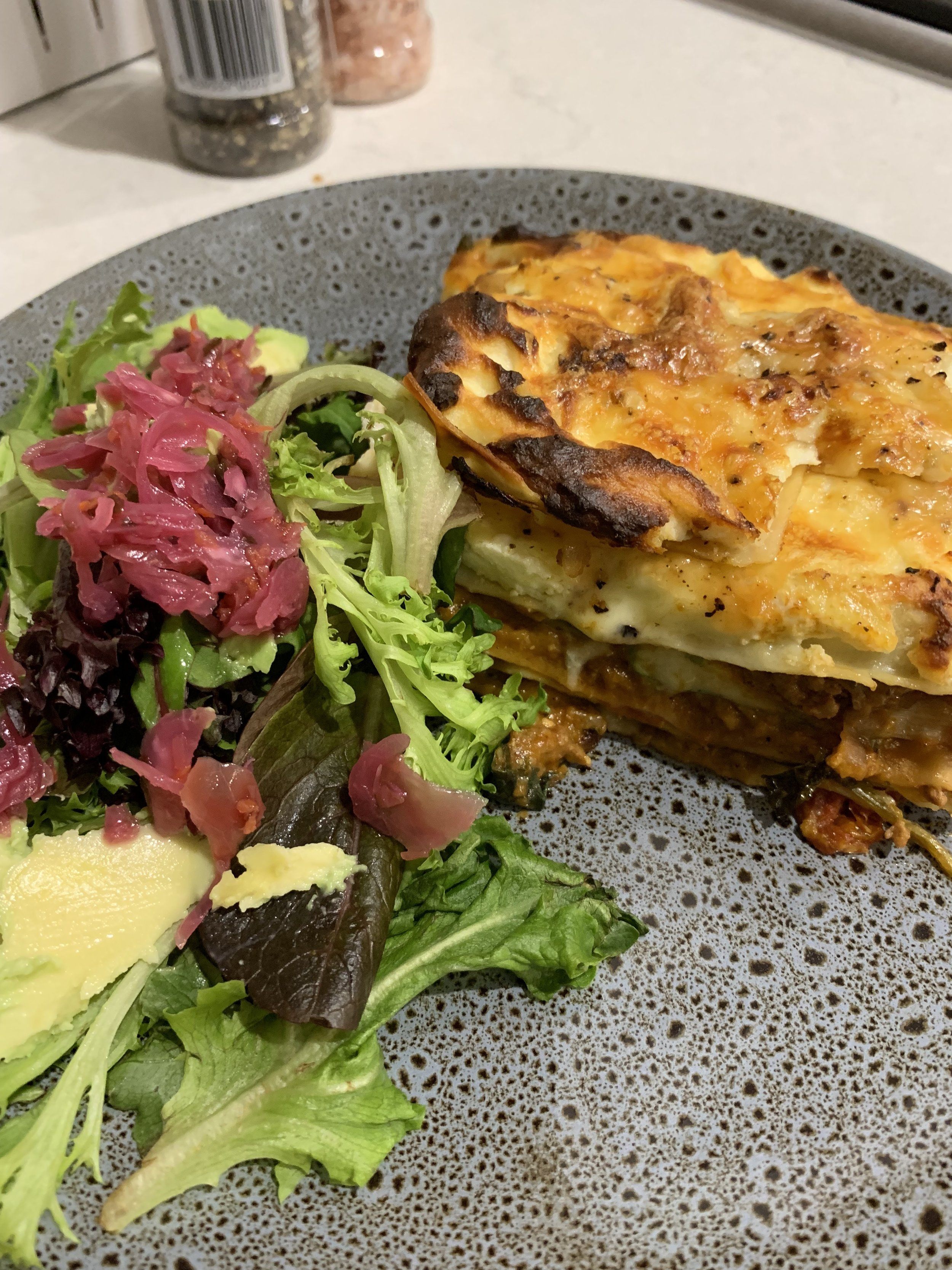 vegetable loaded lasagne