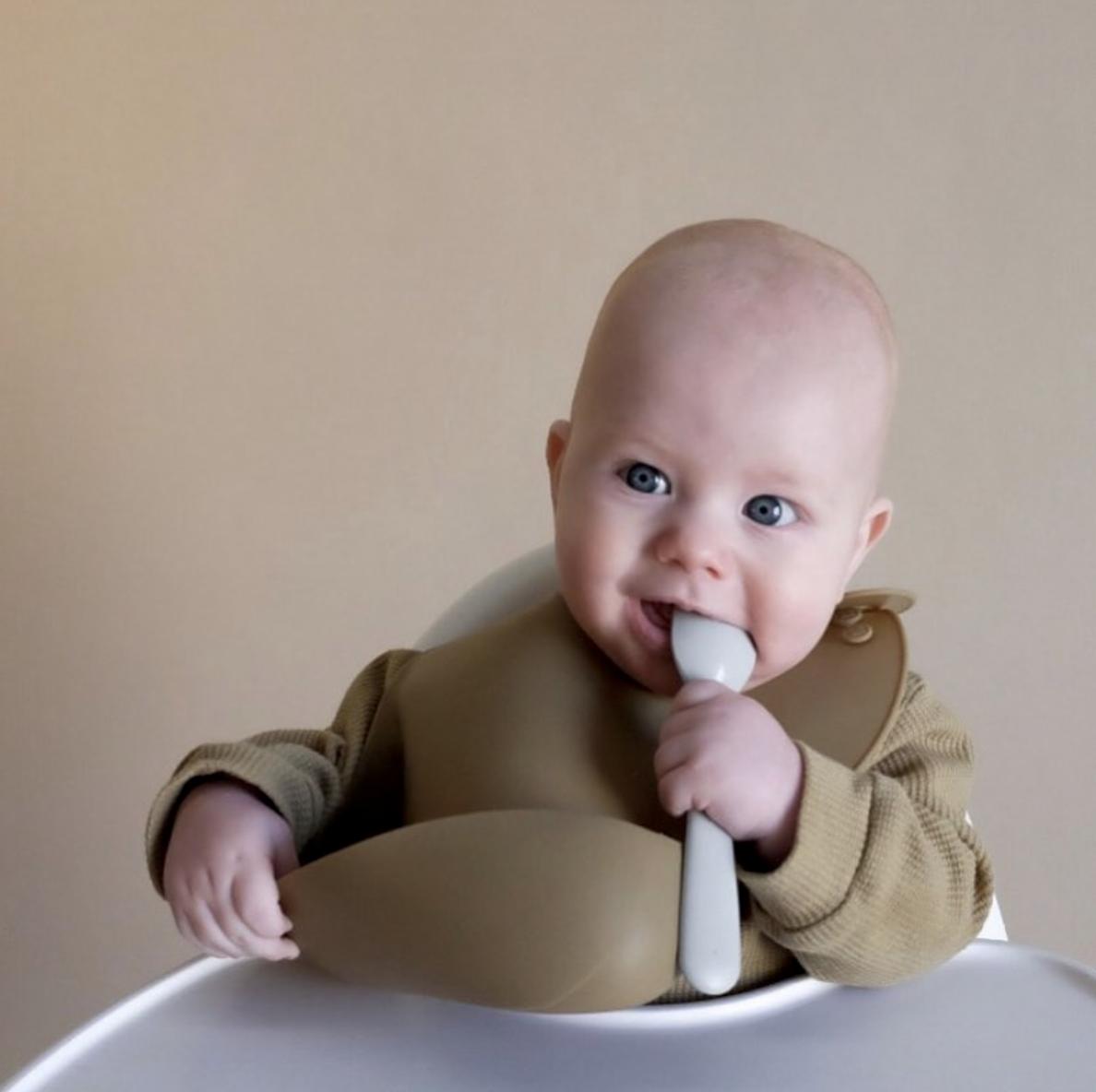 boob to food spoon feeding baby romper bib