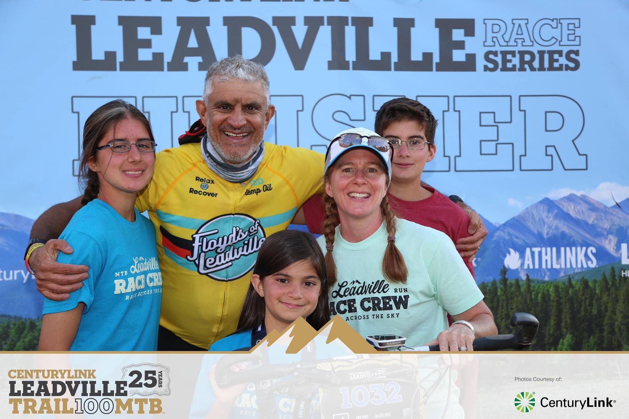 the Buttar Clan invades Leadville MTB 100 at the finish line.